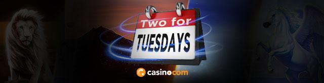 Casino.com Two for Tuesdays Promo